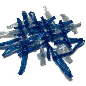 Treillis plastique bleu